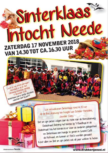 Poster Intocht Sint 2018 Website Ondernemend Neede